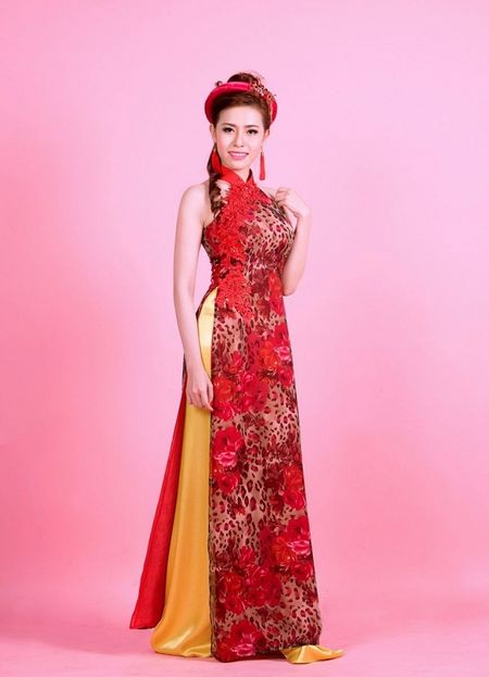 A khoi Quynh Ngan dien ao cach tan dai do ruc chao xuan Binh Than 2016 - Anh 2
