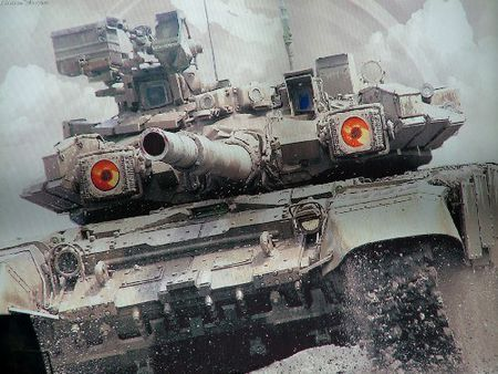 Video: Uy manh xe tang T-90A tren chien truong Aleppo, Syria - Anh 4