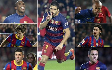 Luis Suarez pha loi nguyen so 9 o Barca - Anh 1