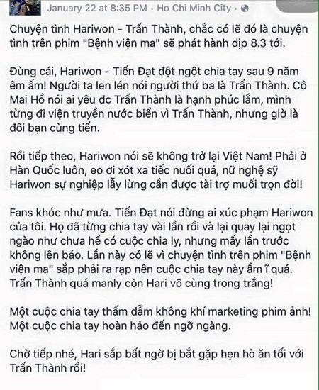 Hari Won hon say dam Tran Thanh chi la chieu tro PR? - Anh 3