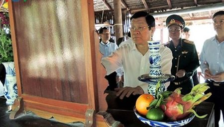 Chu tich nuoc chuc Tet tai Tay Ninh - Anh 1