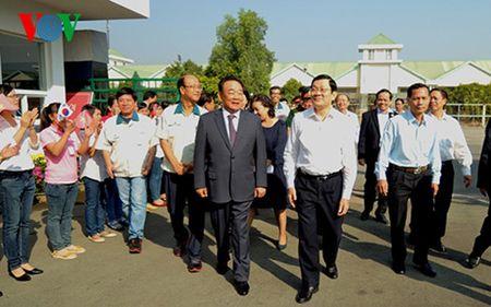 Chu tich nuoc Truong Tan Sang tham va chuc Tet nhan dan tinh Tay Ninh - Anh 1