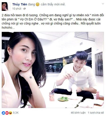 """Thuy Tien - Cong Vinh """"hoi teen"""" tron be Gao di to tuong - Anh 1"""