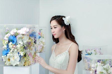 Hoa hau Thu Thao xinh dep voi vay ket hang tram hoa lan - Anh 8