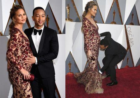 Nhung ba bau xinh dep tren tham do Oscars 2016 - Anh 1
