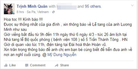 Thong tin le tang nhac si Luong Minh tai Ha Noi - Anh 2