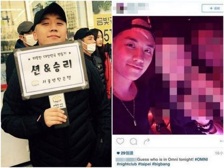Seungri Big Bang bi bat gap vao quan bar voi 3 sao nu Dai Loan - Anh 1