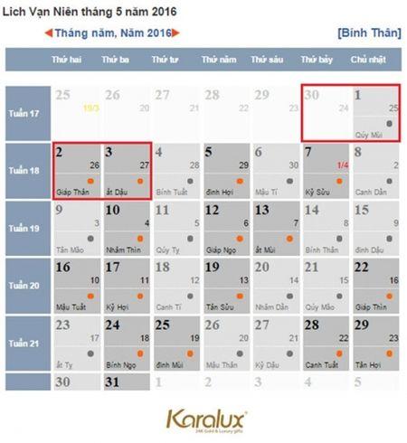 Cong bo lich nghi le Gio to Hung Vuong va 30/4, mung 1/5 nam nay - Anh 1