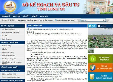 Long An: So GD&DT de xay ra nhieu sai sot trong dau thau - Anh 1