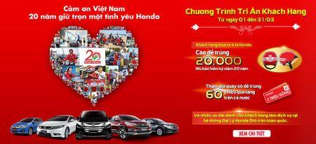 Honda Oto Viet Nam tri an khach hang nhan 20 nam thanh lap - Anh 1