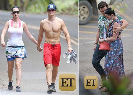 Orlando Bloom - Katy Perry bi bat gap tay trong tay o Hawaii - Anh 1