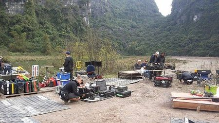 Hoan cay lua, 300 nong dan Ninh Binh hao hung 'casting' phim Kong: Skull Island - Anh 1