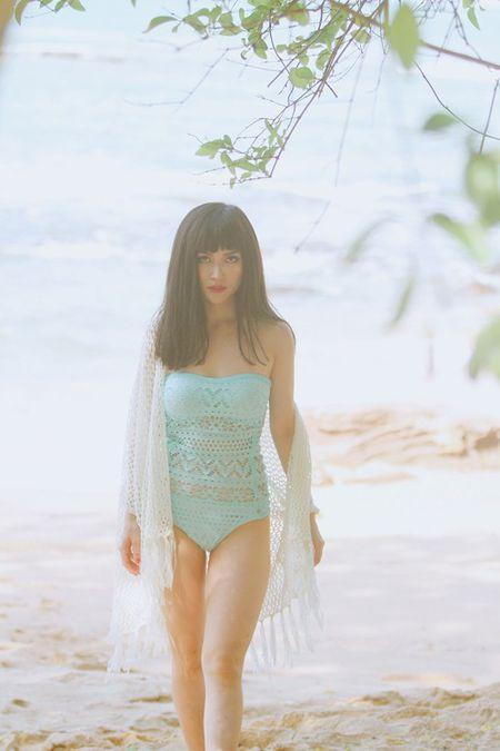Si Thanh khoe than hinh vo cung goi cam voi bikini - Anh 7