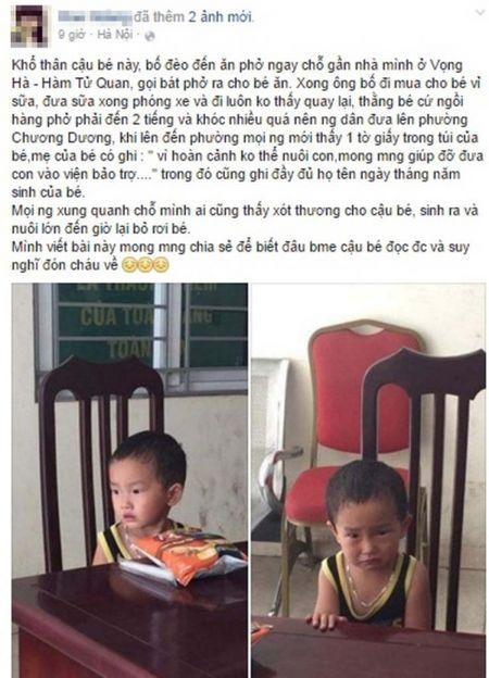 HN: Be trai 2 tuoi bi nguoi than bo roi o quan pho cung 200 ngan - Anh 1