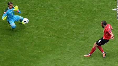"""Cuoc chien"" tren san co Euro 2016 qua anh - Anh 17"