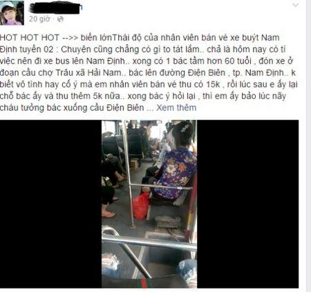 Nam Dinh: Nhan vien xe bus duoi hanh khach xuong duong? - Anh 1