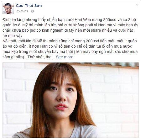 Ly do Hari Won chi mang 300 USD khi di luu dien o My - Anh 1
