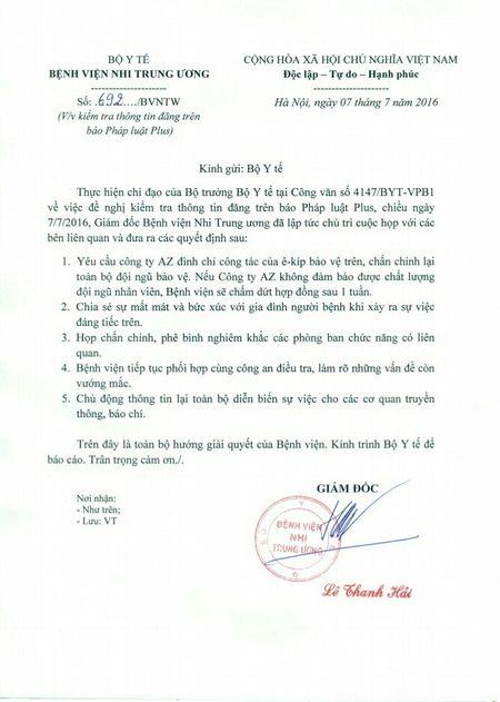 Vu xe cuu thuong bi can tro o BV Nhi TW: Su quyet liet cua Bo truong Tien - Anh 1