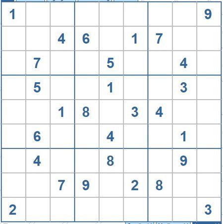 Moi cac ban thu suc voi o so Sudoku 3460 muc do Kho - Anh 1