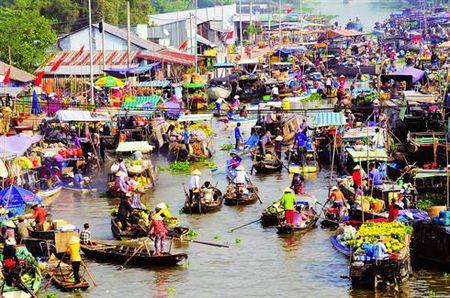 Cho noi Cai Rang duoc cong nhan di san van hoa phi vat the quoc gia - Anh 1