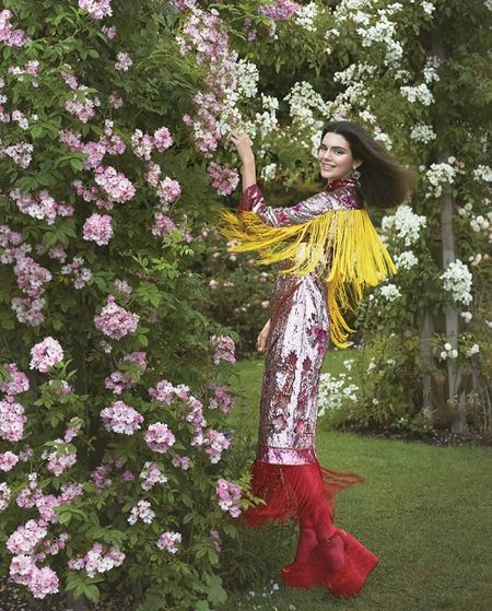 Mac du luan, Kendall Jenner tiep tuc len bia Vogue - Anh 4