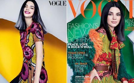 Mac du luan, Kendall Jenner tiep tuc len bia Vogue - Anh 5