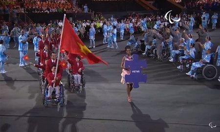 Anh an tuong cua doan TTVN tai khai mac Paralympic Rio 2016 - Anh 9