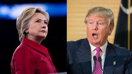 Ba Hillary dang co so phieu dai cu tri gan gap doi ong Trump - Anh 1