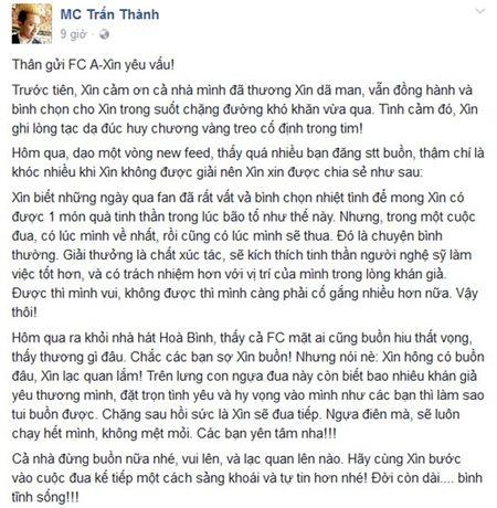 Tran Thanh vi minh la 'ngua dien' truoc chuyen bi Truong Giang 'vuot mat' - Anh 1