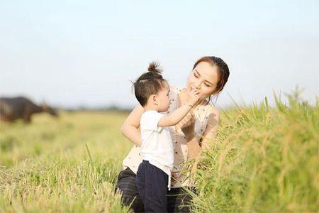 Con trai Diem Huong ngo ngac giua canh dong lua vang - Anh 1
