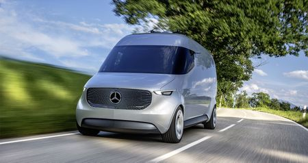 Mercedes-Benz Vision Van - tuong lai nganh giao hang - Anh 1