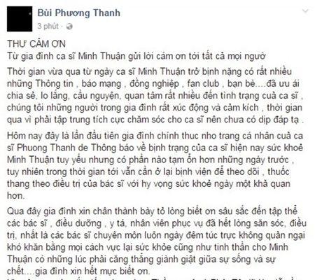 Gia dinh lan dau tiet lo ve suc khoe cua Minh Thuan - Anh 2