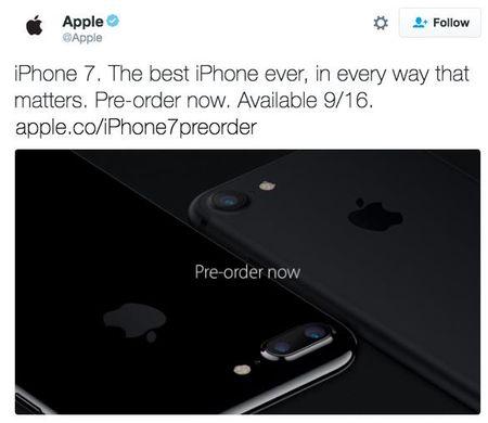 iPhone 7 chinh thuc lo dien tren tai khoan Twitter cua Apple - Anh 6