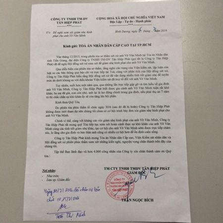Phuc tham vu 'chai nuoc 500 trieu': Tan Hiep Phat xin giam an cho bi cao Vo Van Minh - Anh 1