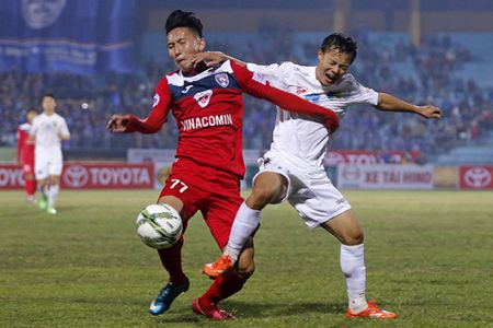 Cuoc dua vo dich V-League 2016: Nga re tai Cam Pha - Anh 1