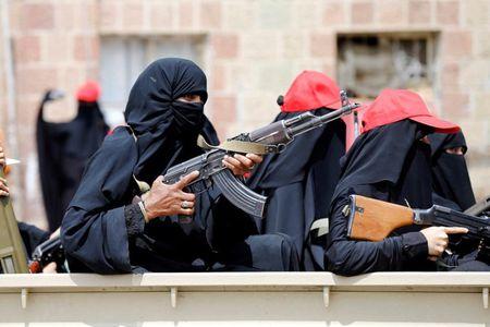 Nhung nu chien binh trong hang ngu phong trao Houthi - Anh 9