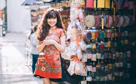 Hot girl pho nui khoe anh ngot ngao don Trung thu - Anh 2