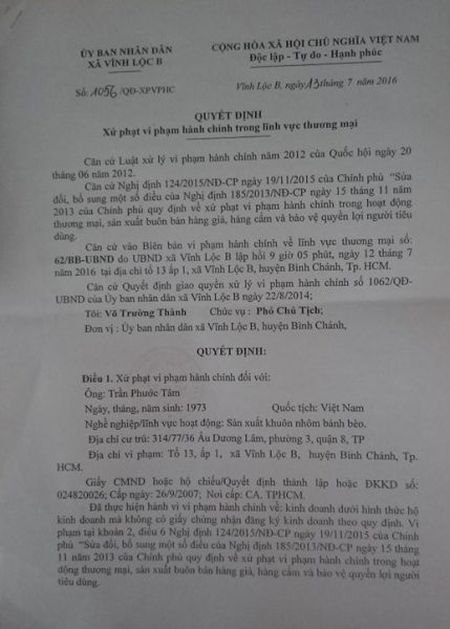 Tiep bai 'Xu phat co so duc kim loai tai huyen Binh Chanh, TP.HCM': Phat cho 'ton tai', roi buong long quan ly? - Anh 1