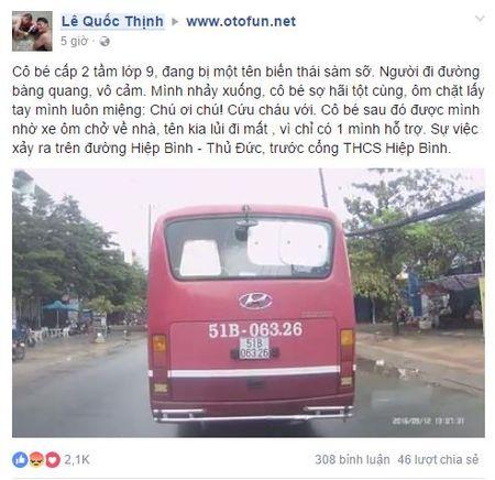 Clip: Nu sinh cap 2 bi ke bien thai sam so giua pho Sai Gon - Anh 1