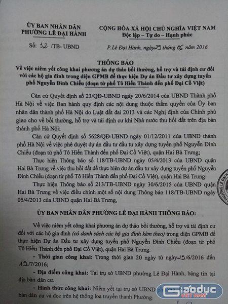Giua trung tam Ha Noi thu hoi chi den bu...40% dien tich, dan nao chiu duoc? - Anh 1