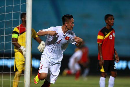 Thang dam Dong Timor, U19 Viet Nam vuon len dau bang - Anh 1