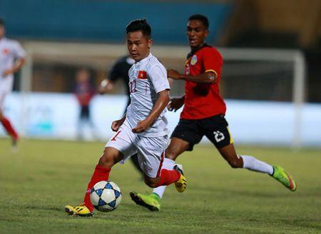Thang dam Dong Timor, U19 Viet Nam vuon len dau bang - Anh 2