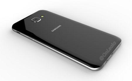 Galaxy A8 (2016) lo thiet ke ket hop kinh va kim loai - Anh 2