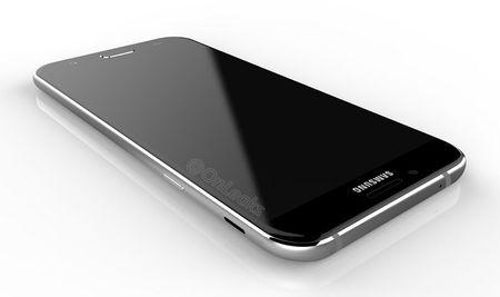 Galaxy A8 (2016) lo thiet ke ket hop kinh va kim loai - Anh 3