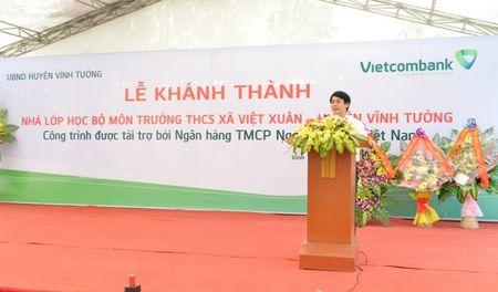 Khanh thanh Nha lop hoc bo mon Truong THCS Viet Xuan do Vietcombank tai tro 3 ty dong - Anh 2