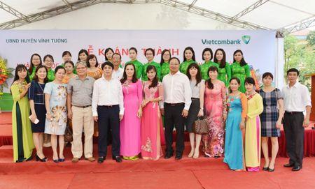 Khanh thanh Nha lop hoc bo mon Truong THCS Viet Xuan do Vietcombank tai tro 3 ty dong - Anh 5
