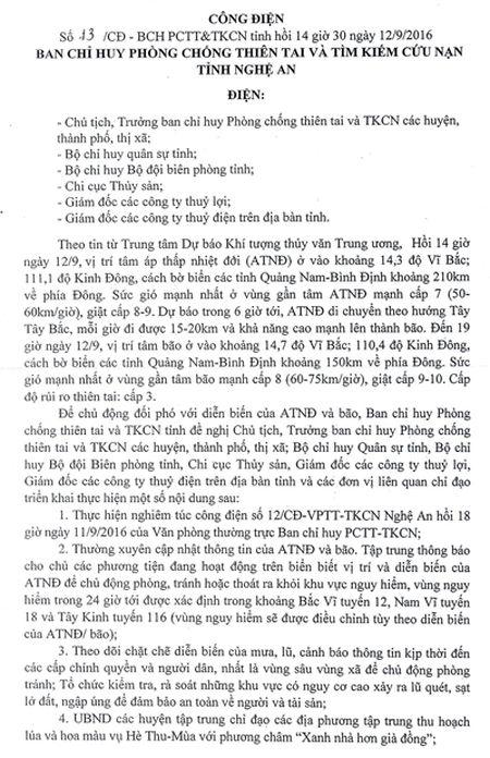 Nghe An chu dong doi pho voi dien bien cua ap thap nhiet doi va bao - Anh 1