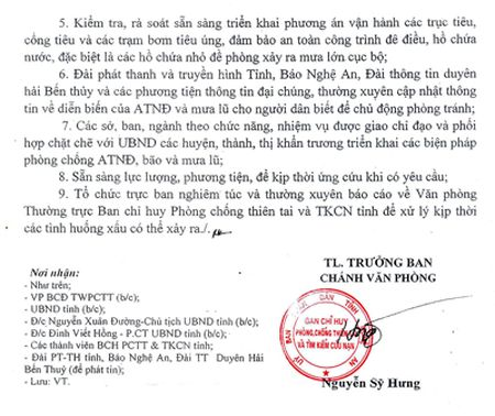 Nghe An chu dong doi pho voi dien bien cua ap thap nhiet doi va bao - Anh 2
