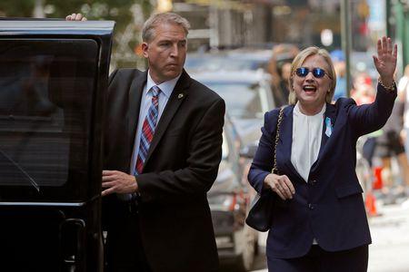 Ba Clinton lan dau chia se ve su co ngat xiu trong le 11/9 - Anh 1