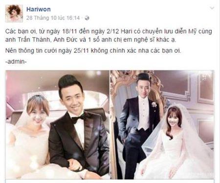 25/12 la ngay cuoi chinh thuc cua Tran Thanh va Hari Won? - Anh 2
